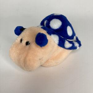 "Blue White SNAIL plush STUFFED ANIMAL GERMANY W. STEINBECK ANTONELLA 4"""
