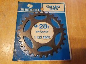 NOS Shimano 28T Freewheel Replacement Sprocket Black Finish 123 2803