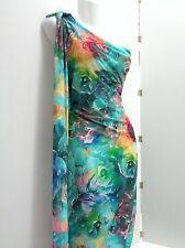 TRENDY Jersey ,Blumen,  Viskose,Meterware, Kleiderstoff, Türkis, Multicolor