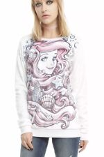 Little Mermaid Princess Ariel Super Soft Sweater Junior Small New With Tags NWT