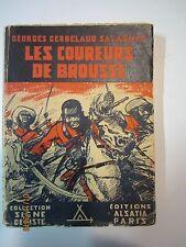 """Signe de piste Alsatia 1947 """"Les coureurs de brousse"""""""