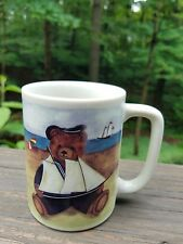 Otagiri Mug Bo Teddy Bear Sail Boats Beach Ceramic Japan