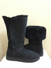 UGG CLASSIC CUFF TALL BLACK SHEEPSKIN LINED BOOT US 9 / EU 40 / UK 7.5  NEW