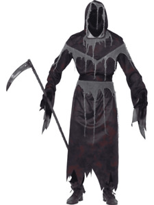 Smiffys Grim Reaper Contains Hooded Robe Mask Gloves and Belt Size Small 22883