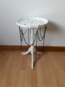 Save the Bee's Table, Bee Design Furniture, Hand Painted and Decoupaged Table.