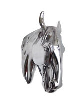 Wall Mount Horse Head Aluminium Figurine Sculpture Statue au