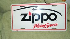 ZIPPO MOTORSPORTS LICENSE PLATE 1995 STILL SHRINK WRAPPED FREE USA SHIPPING