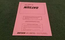 DATSUN UK PRICE LIST August 1979 Cherry Sunny Laurel Skyline 280C 280ZX BROCHURE