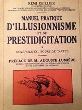 Tours de Cartes Illusionnisme Prestidigitation Auguste Lumière 1935 R. Cellier