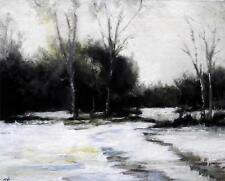 """Deep Winter  10"""" X 8""""  Impressionist Original Oil Painting by Terry P Wylde"""