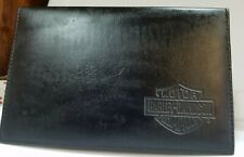HARLEY DAVIDSON NOTEPAD AND BUSINESS CARD HOLDER BLACK LEATHER