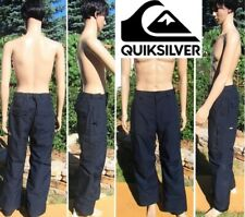 QUIKSILVER cargo ski snowboard pant waterproof breathable black mens medium