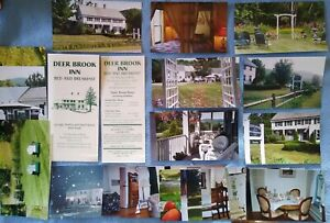 Lot of 20+ Original Photos (& Brochure), Deer Brook Inn, Woodstock VT Circa 2002