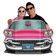 50's Pink CONVERTIBILE Photo Prop - 94 x 64 cm-ROCK & ROLL AUTO STANDIN ritaglio