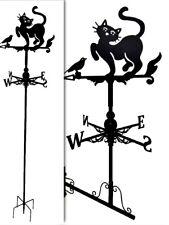 Floor standing and wall mounted Weathervanes Steel Cat and Bird Weathervane