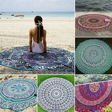 Hippie Mandala Round Towel Indian Tapestry Beach Throw Blanket Yoga Mat Hiking