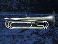 Ludwig Silver/Nickel G Tenor Bugle Ser#308 1 Piston in Good Playing Condition