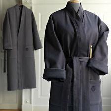 Baumwolle Bademantel Kimono Sauna Morgenmantel Saunamantel Damen Herren