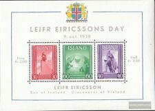 Islande Bloc 2 (complète edition) neuf avec gomme originale 1938 Leif-Eriksson-J