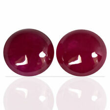 2.60 Cts Natural Top Pink Red Ruby Loose Round Cab Pair Madagascar 3 upto 4 mm $