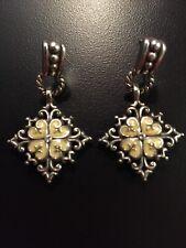 Brighton Earrings Yellow Flower Silverstone Dangle Pierced Crystal