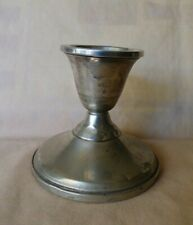 1940s+ Sterling Silver Single Candlestick #412 Mueck-Carey NYC Weighted 185.2 gr