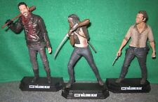 "McFarlane Walking Dead ""Bloody"" Negan + Michonne + Rick Grimes Action Figure Lot"