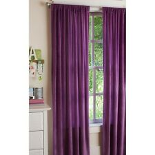 NEW Your Zone Plush Window Curtain in Berry Purple 42x84