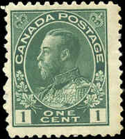 Canada Mint H 1911 F+ Scott #104 1c Admiral King George V Stamp Issue