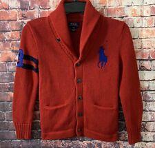 Polo Ralph Lauren Big Pony Cardigan Shawl Collar Sweater Boys • Sz S (8)