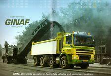 GINAF Trucks 2010 Export Markets Foldout Wall Calendar