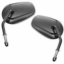 Harley NEW ORIGINAL OEM black tapered mirrors touring softail dyna xl fatboy