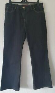 "SIMPLY WOW BLACK DENIM JEANS STRETCH UK 18 29"" INSIDE LEG STRAIGHT LEG"