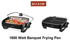MAXIM 1800 Watt Large Non Stick Electric Banquet Frying Pan+Easy Clean MBF1500