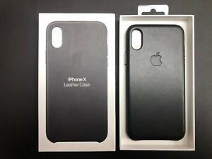 Genuine Apple iPhone X Leather Case - Black - MQTD2ZM/A - New