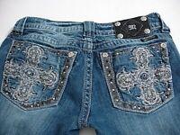 MISS ME Denim Women's Designer Stretchable Low Rise Cut Short Boot Cut Jeans 28