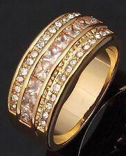 Topaz Engagement White Gold Filled Costume Rings
