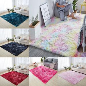 Tie Dye/Rainbow Fluffy Rugs Anti-Slip Shaggy Rugs Soft Carpet Mat Indoor Floor