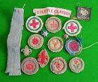 Selection of Vintage Boys Scouts Cloth Badges - Steeple Claydon Bucks