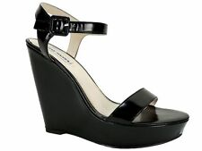 Steve Madden Women's Prestine Wedge Sandals Black Size 10 M