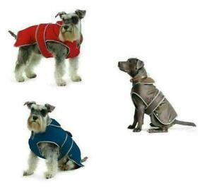 Dog Coat Muddy Paws Stormguard Fleece Lined Waterproof Rain Coat Dog Harness