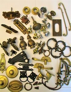 Antique & Vintage Furniture Pulls, Hardware and Ornaments  63 Piece Lot