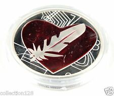 Physical Feathercoin Silver-Plated Medallion