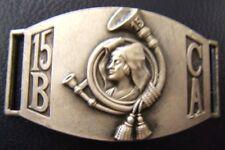 PLAQUE DE BRACELET Gourmette 15° BCA BATAILLON CHASSEURS ALPINS 1939-1940 WWII