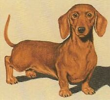 DACHSHUND RED SMOOTH DOG Art. 12 Identical 6 inch Fabric Squares to Quilt & Sew