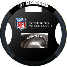 OAKLAND RAIDERS BLACK MESH CAR AUTO STEERING WHEEL COVER NEW FREE SHIPPING