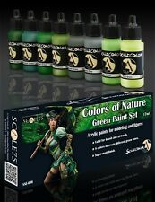 Colors of Nature Green Paint Set -  8 Bottles - Scale75