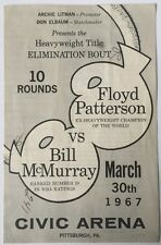 1967 Floyd Patterson vs Bill McMurray Fight Scorecard