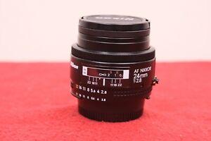 Nikon AF Nikkor 24mm f2.8 Wide Angle AF Prime Lens w/Filter, Caps, EX Plus Cond.