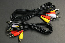 2 PCS 4 FT  Composite AV 3-RCA AUDIO/VIDEO CABLE MALE RED YELLOW WHITE 4'